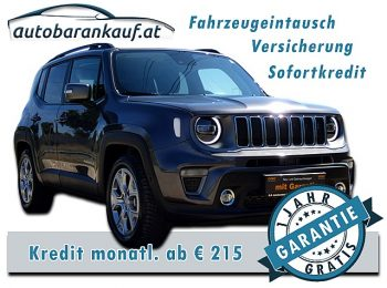 Jeep Renegade 1,6 MultiJet II FWD 6MT 120 Limited **-33% v. NP** bei autobarankauf.at – E.R. Auto Handels GmbH in